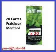 20 CARTES FRAICHEUR MENTHOL - Carte Aromatique pour tout produit - PROMOTION !!!