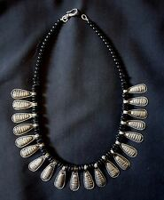 Morocco - Beautiful ethnic necklace silver pendants, glasses beads