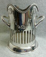 International Silver Silverplate Wine Bottle Holder Caddy