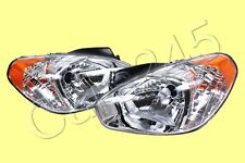Headlights Front Lamps PAIR Fits HYUNDAI Accent 06-10