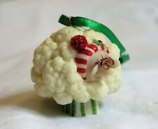 New Listing🎄 Enesco Home Grown Cauliflower Sheep Mrs Claus Christmas Ornament Collectible