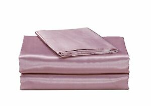 California Drapes 4 Piece Super Soft & Silky Satin Sheet Set