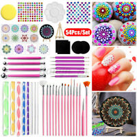 54PCS Mandala Dotting Tools DIY For Rocks Painting Drawing Crafts Nail Art Brush