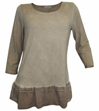 Boysen's 2in1 Shirt Size 40/42 Taupe Washed Viscose New