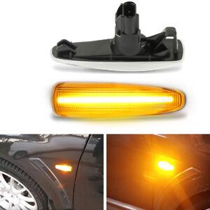 Sequential Amber Front LED Side Marker Lights For Mitsubishi Lancer Evo X Mirage