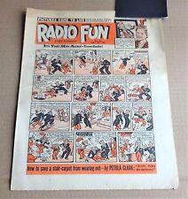 "VINTAGE  FLEETWAY  ""RADIO FUN""  COMIC #496  DATED  APRIL 10th 1948"