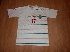 Maillot Football Equipe du Maroc Puma Blanc Extérieur Floqué Chamakh 2010 - 2011