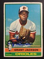 Grant Jackson Orioles Signed 1976 Topps Baseball Card #233 Auto Autograph