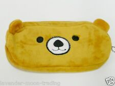 SOFT PLUSH ZIPPED RILAKKUMA TEDDY BEAR PENCIL CASE/COSMETIC MAKE UP BAG