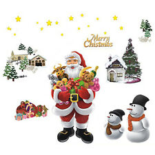 Merry Christmas Xmas Santa Claus Wall Stickers Festival Party Decor Removable AU