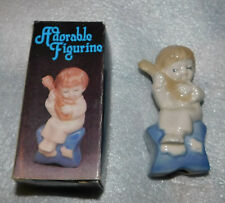 Child Porcelain Figurine Bedtime Lullaby Dreaming Guitar Home Decor Collectible