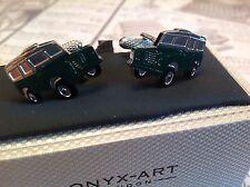 Land Rover Gemelos de Onyx Art, Nuevo en caja de regalo Boda Cumpleaños