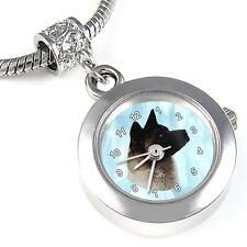 Akita Dog Silver Quartz Watch European Charm Bead For Bracelet Necklace EBA61