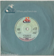 """Barry White - Let The Music Play 7"""" Single 1975"""
