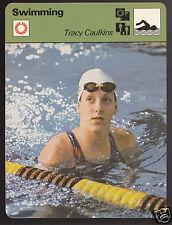 TRACY CAULKINS Swimming American Olympics 1979 SPORTSCASTER CARD 66-02A