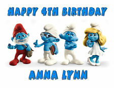 Smurfs edible cake image cake topper frosting sheet party decoration
