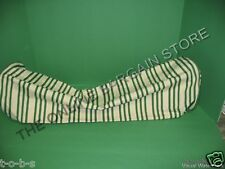 Pottery Barn Grosgrain Bolster Stripe Pillow Lumbar grn