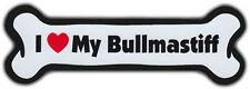Dog Bone Magnet: I LOVE MY BULLMASTIFF | Dogs Doggy Puppy | BULL MASTIFF