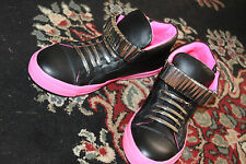 JEFFREY CAMPBELL PATRICK- STAPLE-STUD BLACK/PINK  SNEAKER SIZE 9 AND 10