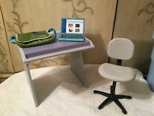 American Girl  Desk, Chair, and laptop computer  RETIRED