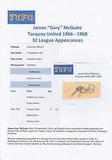 GARY McGUIRE TORQUAY UNITED 1966-1968 ORIGINAL HAND SIGNED CUTTING/CARD