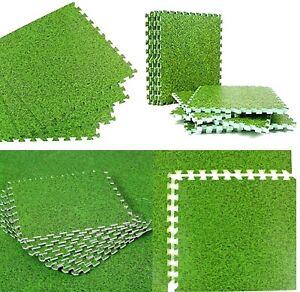 Grass Effect Eva Mats Flooring Interlocking Thick Soft Foam Gym Yoga Floor Tiles