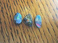 Australian boulder opal cabochons. 3 pcs. 5.7 cts. total