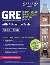 Kaplan GRE 2017 Strategies, Practice, and Review with tests
