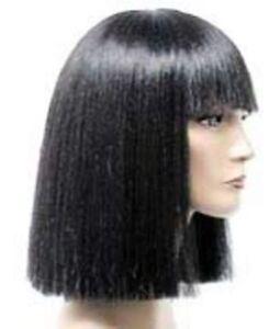 CLASSIC CLEOPATRA WOMENS SHOULDER LENGTH STRAIGHT HAIR W/ BANGS COSTUME WIG NIDA