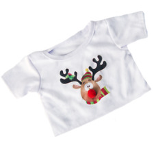 "CHRISTMAS REINDEER T-SHIRT -16""/40cm TEDDY BEAR CLOTHES / BUILD A TEDDY BEAR"