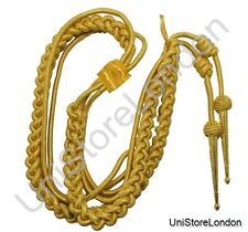 Aiguillette Gold Mylar Army Air Force Navy R141