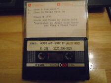 VERY RARE Julie Gold DEMO CASSETTE TAPE pop 2 songs Four Bitchin' Babes 1987 !