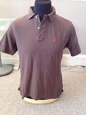 Ralph Lauren Brown Polo Shirt Adult Size Medium  (M3418)