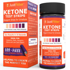 125 Ketone Test Strips Urine Analysis Paleo Ketosis Optifast Keto sticks Celiac