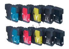 10 CARTUCCE STAMPANTE PER BROTHER LC980 LC1100 DCP 373CW 377CW 197C 145C 165C