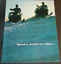VINTAGE 1973? MERCURY SNOWMOBILE SALES BROCHURE 6 PAGE FULL LINE  (196)
