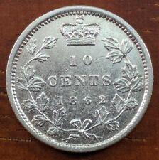 1862 MS UNC BU New Brunswick Canada 10 Cent Silver Dime $2000+ CAD Coin Lot F7