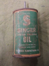 #D316. EMPTY  SINGER SEWING MACHINE OIL  TIN