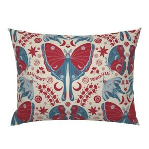 Moth Butterfly Insect Night Moon Indian Floral Pillow Sham by Roostery