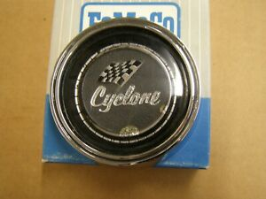 OEM Ford 1966 1967 Mercury Cyclone Steering Wheel Horn Button Emblem Ornament