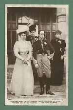 C1910'S RP PC SPANISH ROYAL FAMILY KING ALFONSO XIII, WIFE, MOTHER & IN-LAW