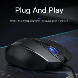 USB Wired Gaming Mouse 2400DPI Adjustable 6 Buttons LED Optical Professional Gam