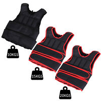 Weight Vest Adjustable Exerice Workout w/ 36 Weights Padding Black