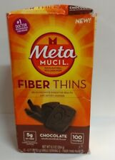 MetaMucil Fiber Thins, Chocolate, 12 Packets - Dented Box