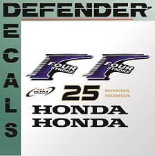 Honda 25 hp Four Stroke outboard engine decal sticker set kit reproduction 25HP