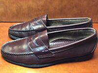 Brooks Brothers Penny Loafers Men's 10.5 D Burgundy Leather Slip On Dress Shoes