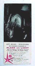 Original Belgium 1958 Brochure for Klank en Licht / Van de Vikings Keizer Karel