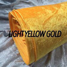 Premium CRUSHED VELVET FABRIC Craft Stretch Velour Material Extra Wide