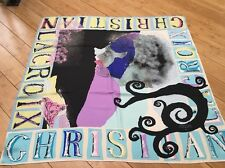 CHRISTIAN LACROIX LOVE SCROLL SCARF MULTI COLOR 34 x 34 90 x 90 100% SILK NEW!