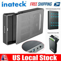 "Inateck 3.5"" Enclosure USB 3.0 SATA External Hard Drive Disk Case UASP Adapter"